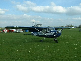 G-ASYP on the ground at Henlow